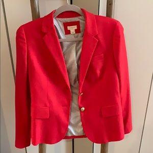 J Crew red/coral blazer.  Worn 2-3 times only. Sz6